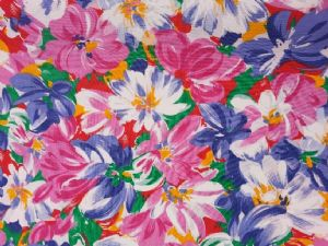 FLOWER SURPRISE - Fabric- 100% COTTON - Price Per Metre
